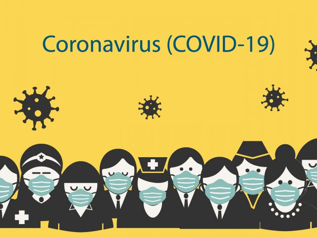 People wearing surgical face mask to prevent disease Coronavirus Covid-19 pandemic